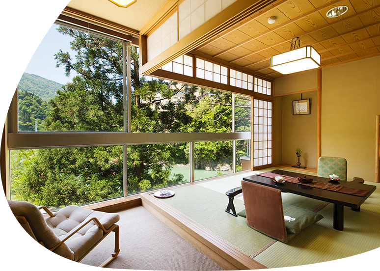 Kurobe River view Japanese-Western style room
