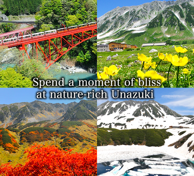 Spend a moment of bliss at nature-rich Unazuki